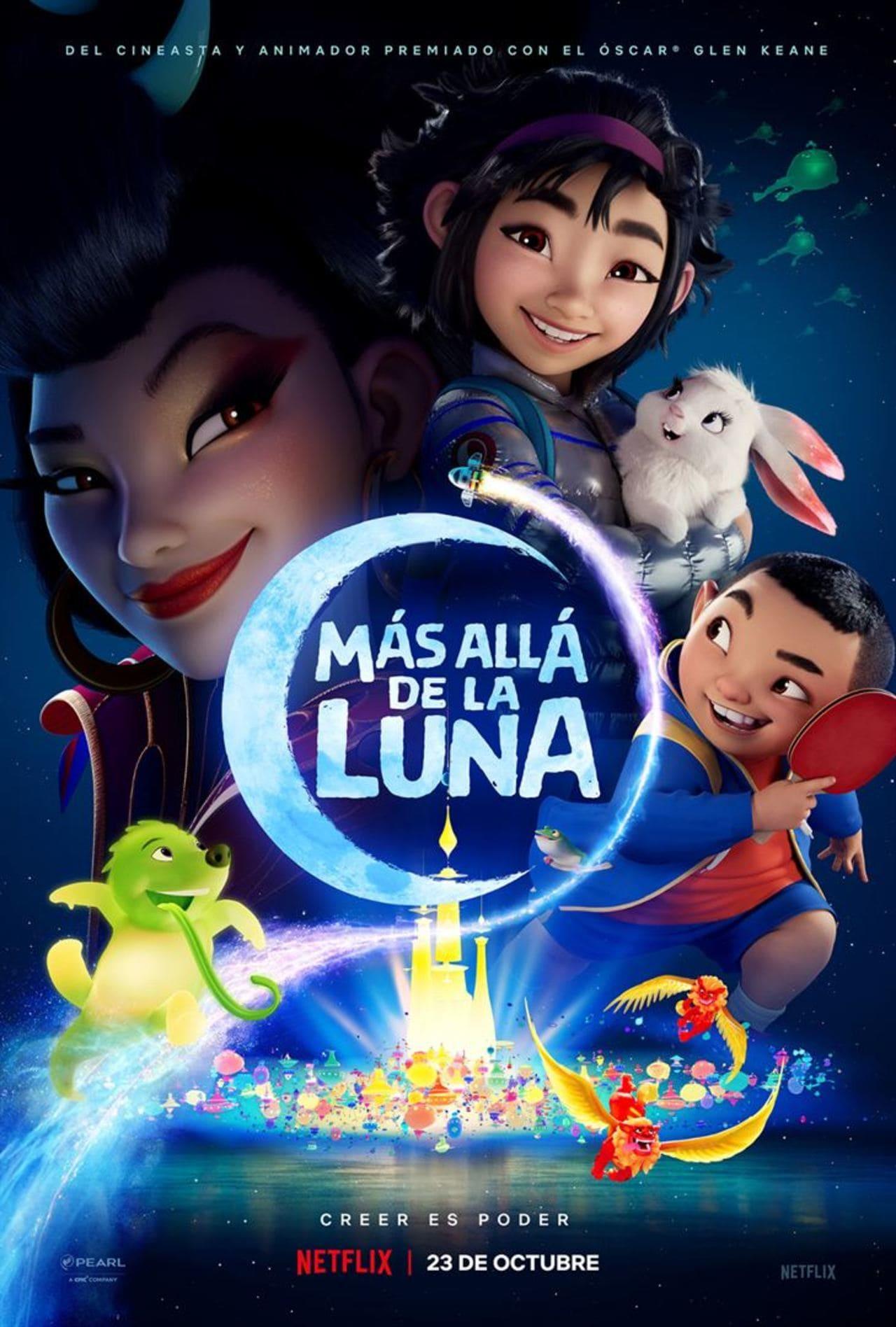 Cartel de Más allá de la Luna (Netflix)