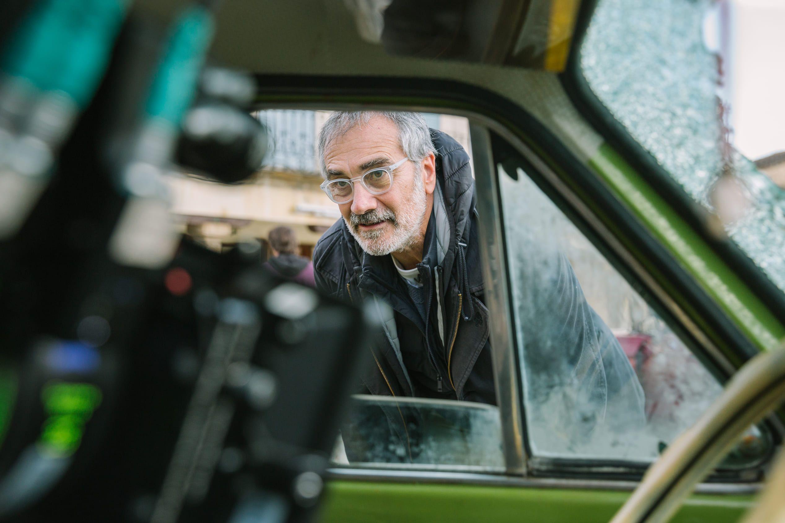 Javier Fesser en el rodaje de Historias Lamentables