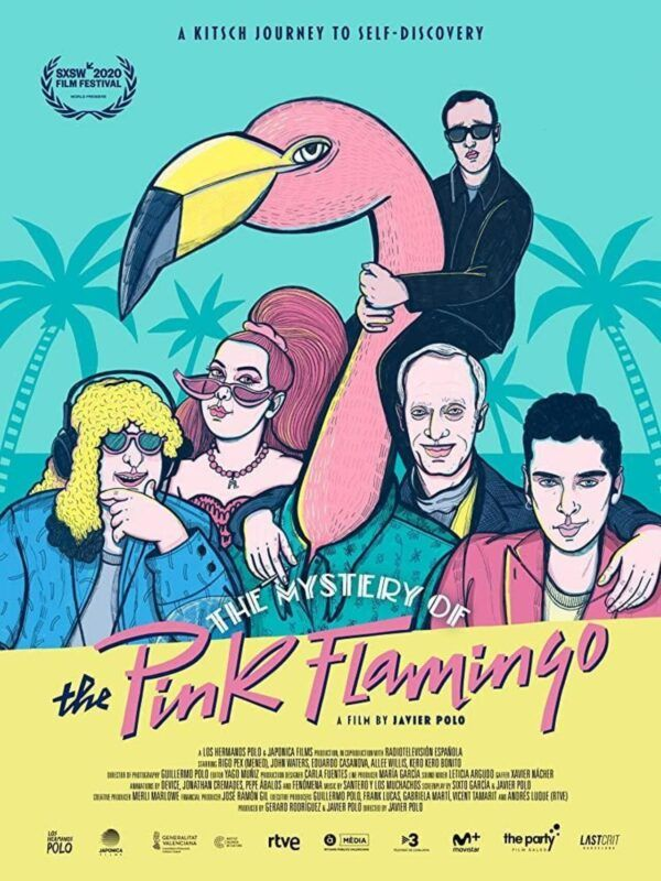 Cartel del documental The Mystery of the Pink Flamingo