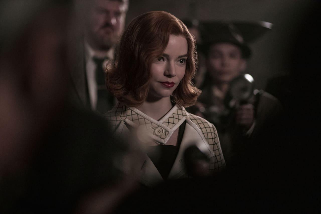 Escena de la serie Gambito de dama de Netflix